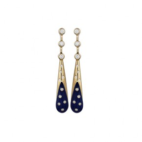 Golden tail earrings