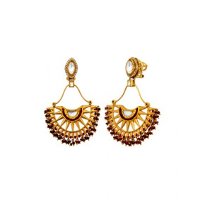 Radiating rays earrings