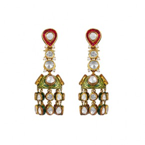 Red ruby earrings