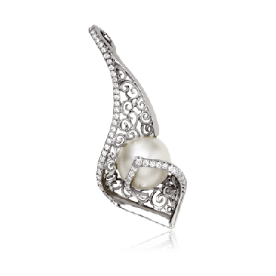 Gorgeous White Gold Pendant with Diamonds - Zoya Espana