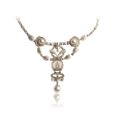Majestic Pearls and Exquisite Diamond Necklace - Zoya Inheritance