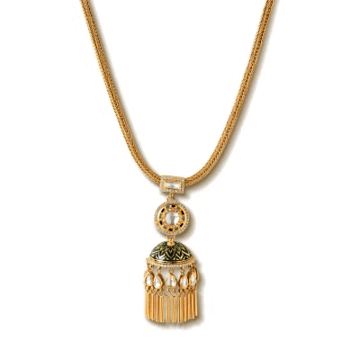 Uncut Diamond & Gold Pendant jewelery Collection - Zoya