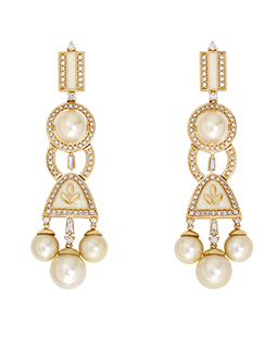 Oval shaped diamond earrings  - IN00DZK