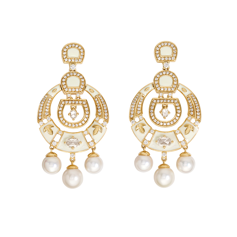 Prong set diamond earrings  - IN00DZH