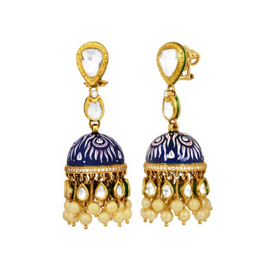 Painted Enamel Jhumki