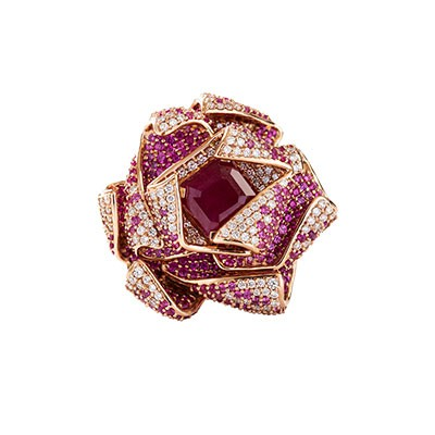 RUBY FLORAL RING​