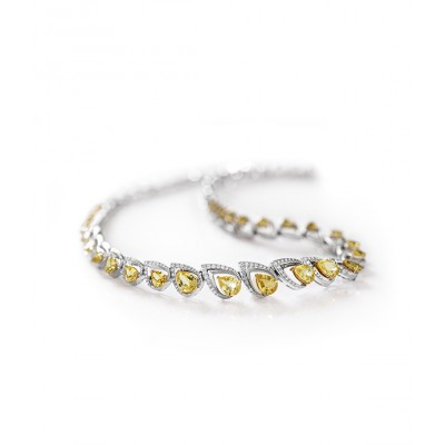 Conical Yellow Sapphire Necklace ​