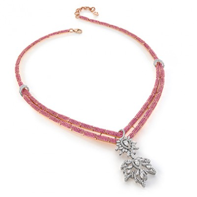 RUBY AND CHINAR NECKLACE