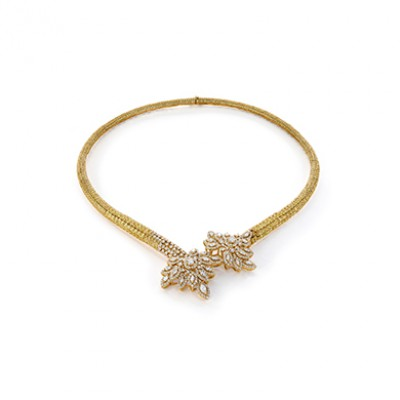 YELLOW SAPPHIRE CHINAR NECKLACE