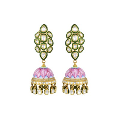 Bloom of lotus earring