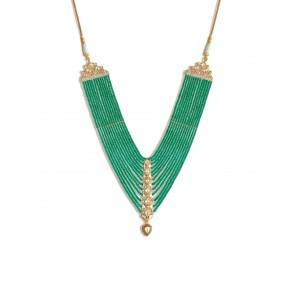 Emeralds and polki necklace