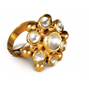 Homage to ghungroos finger ring