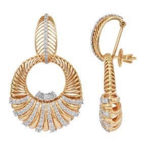 Exquisite gold earrings
