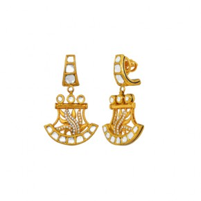 Krishna's hand fan earrings