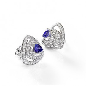 TANZANITE ROSETTE EARRINGS ​
