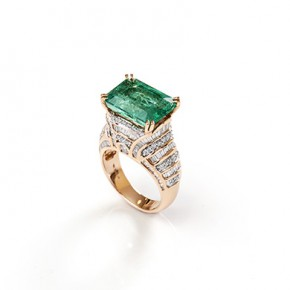 Art Deco Emerald Ring​