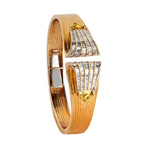 Yellow Sapphire and Diamond Bangle​