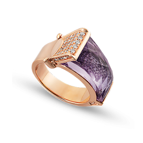 Rialto Bridge Amethyst Ring