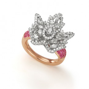 AUTUMN PINK SAPPHIRE FINGER RING