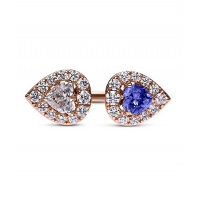 Tanzanite And Diamond Open Ring
