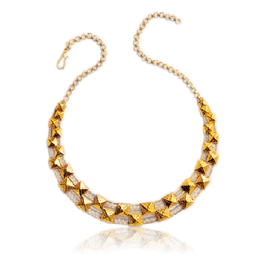 Yellow Gold Necklace with Diamond - Zoya Egypt