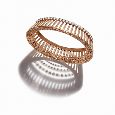 Pantheon Dome Diamond Bangle - IT 18 VAR