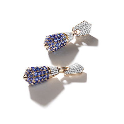 Florence Baptistery Blue Sapphire Drop Earrings - ITX8DBH